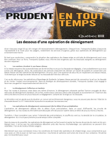 operation de deneigement