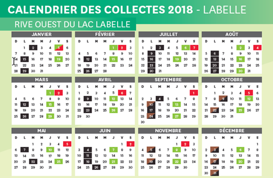 calendrier compost rive ouest 2018